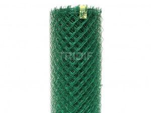 Bezinalové pletivo Alu green / oko 50 / průměr drátu 2,15 mm / s napínacím drátem / 25 bm