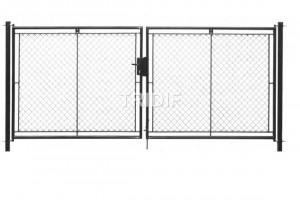 Brána na FAB ANTRACIT / šířka 3000 mm / výplet  PVC + 2 ks sloupků ZDARMA