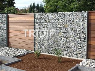 Sypaný gabionový plot / ZINEK /  kompletní sada 2x panel, 2x sloupek, háčky, šrouby / délka 2500 mm